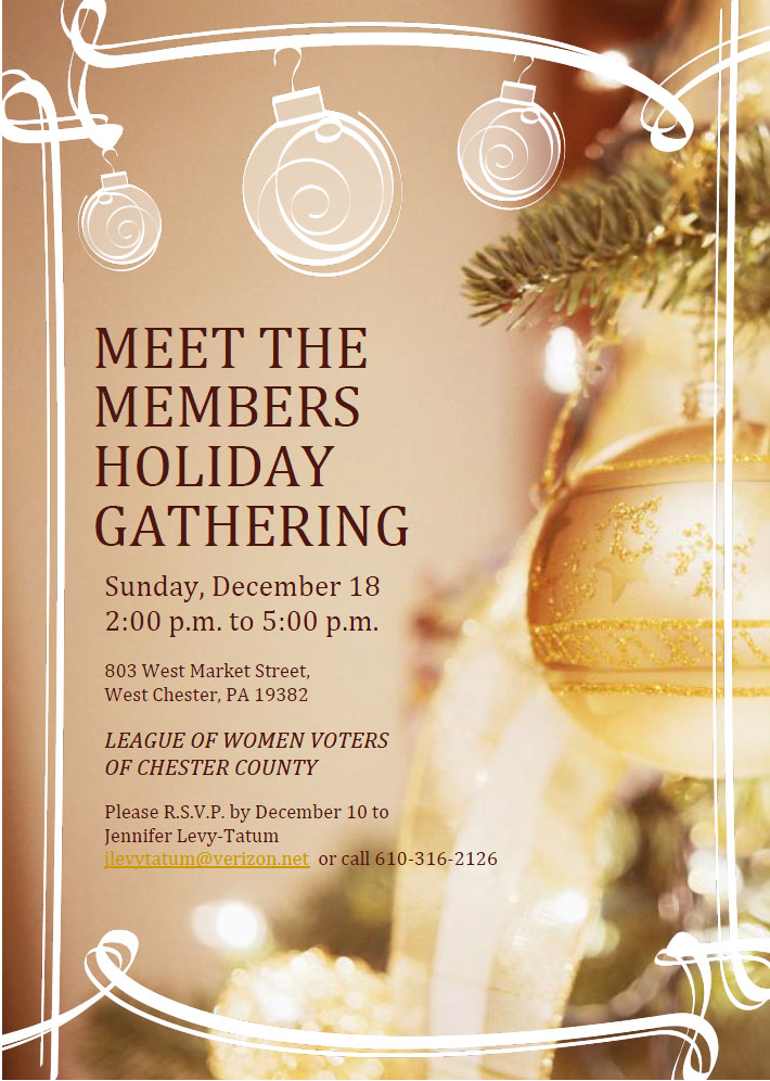 MEET THE MEMBERS HOLIDAY GATHERING